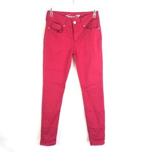 Seven7 Mid Rise Tummyless Skinny Red Jeans Size 8